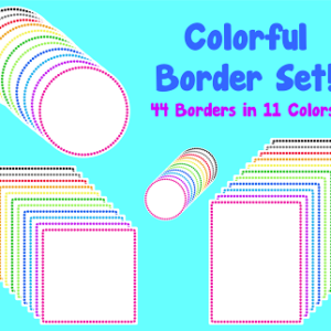 Colorful Borders/Frames Set… and some Freebies!