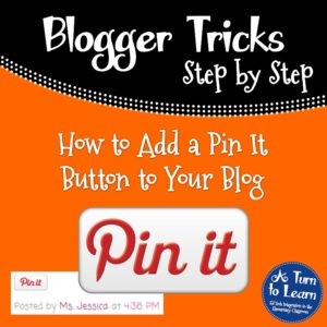How to Add a Pin It Button to Your Blog