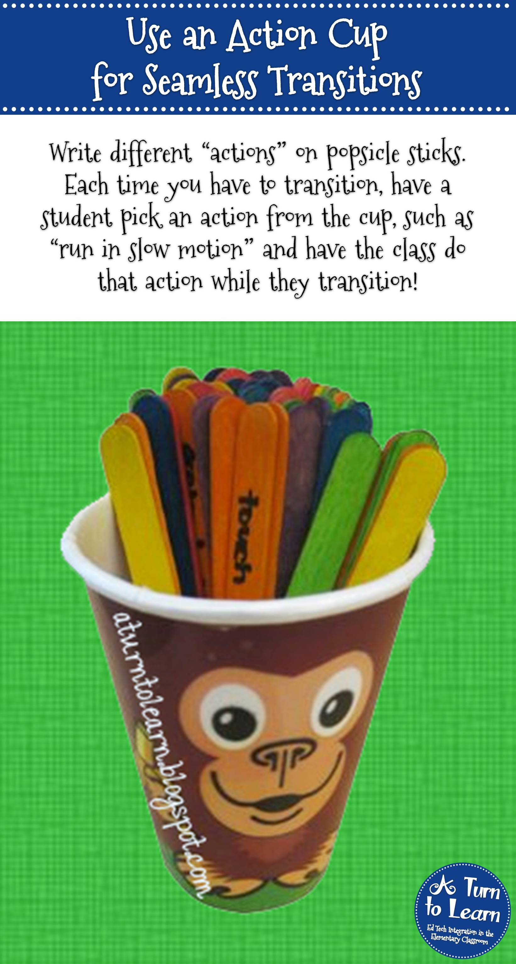 Use an Action Cup for Seamless Classroom Transitions in Kindergarten