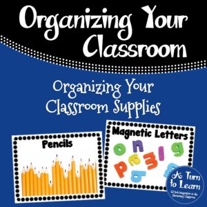 Classroom Supply Labels for Pre-Readers