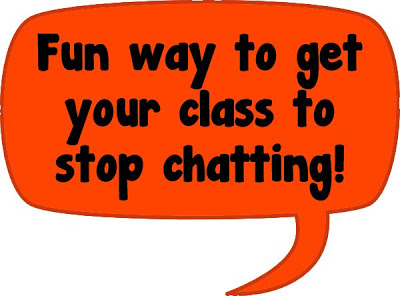 a fun way to get your kids to stop chatting.... check out the link for a cute video and little tricks on how to use it for classroom management!