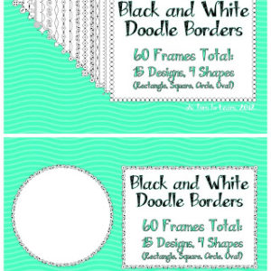 White Doodle Frames (5 Days of Giveaways!) & December Currently!