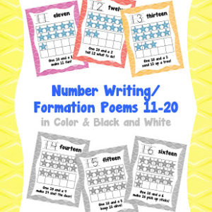 Help Your Kids With Those Tricky Teen Numbers 11-20!