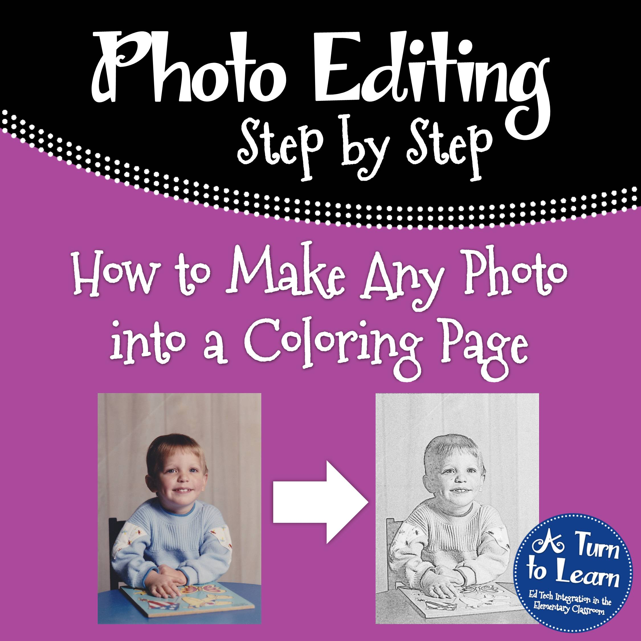 how to make any picture a coloring page u2022 a turn to learn