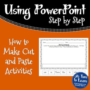 How to Create Cut and Paste Activities in PowerPoint
