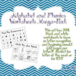 Phonics Worksheets Mega-Pack, Soft C Freebie, and a Giveaway!