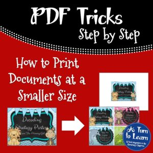 How to Print Documents at a Smaller Size