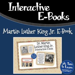 Martin Luther King Jr. Interactive E-Book: This Smartboard activity has comprehension activities to keep students engaged!
