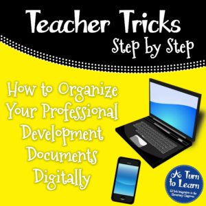 How to Organize Your Professional Development Documents Digitally... This teacher organization trick will help you organize and declutter!
