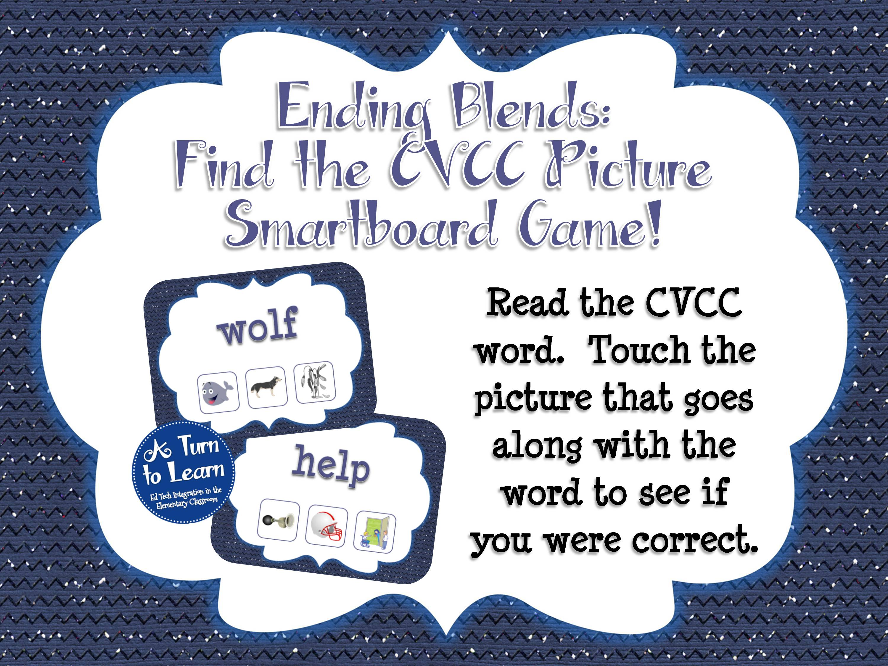 Ending Blends Smartboard Game - CVCC Find the Picture