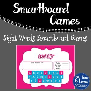 Sight Words Smartboard Games that Incorporate Addition