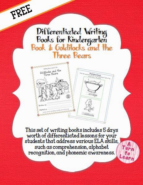 This FREE set of writing books includes 5 days worth of differentiated lessons for your students that address various ELA skills, such as comprehension, alphabet recognition, and phonemic awareness... all using the story Goldilocks and the Three Bears!