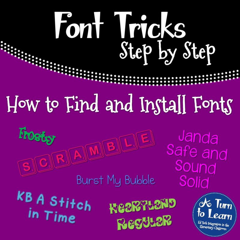 How to Find and Install Fonts... Step by step instructions with pictures
