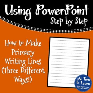 How to Make Primary Writing Lines