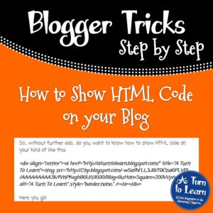 How to Show HTML Code on your Blog