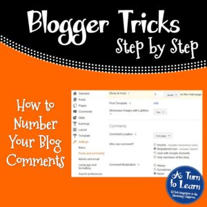 How to Number Your Blog Comments
