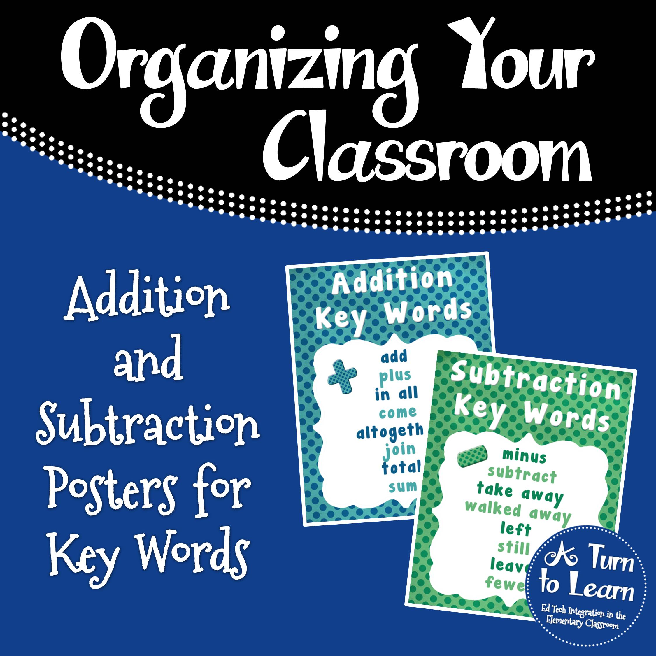Addition/Subtraction Key Word Posters & June Problem of the Day • A ...