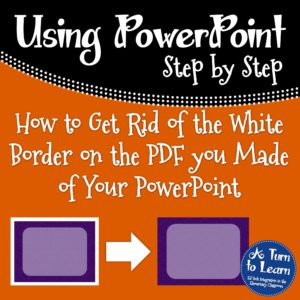 How to Get Rid of the White Border on the PDF of Your PowerPoint