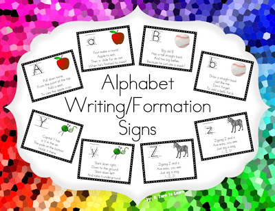 Alphabet writingformation signs a free frame a turn to learn the signs are available at tpt in three different sizes you can head there by clicking any of the pictures below spiritdancerdesigns Images
