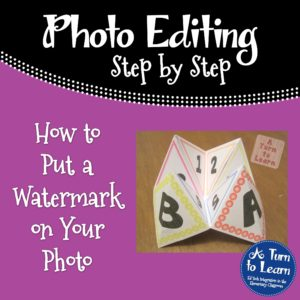 How to Put a Watermark on Your Photo