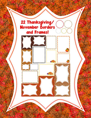 November/Thanksgiving Borders and Frames! • A Turn to Learn