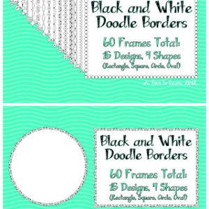 White Doodle Frames (5 Days of Giveaways!) & December Currently!
