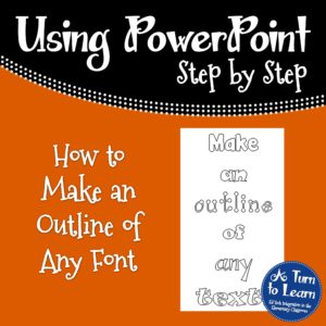 How to Make an Outline of Any Font