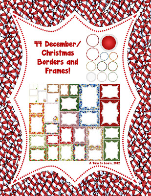 December & January Borders/Frames!! • A Turn to Learn