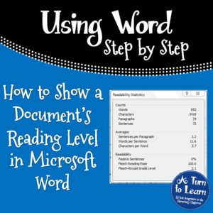 How to Show a Document's Reading Level in Word