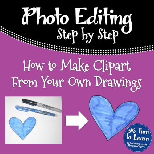 How to Make Clipart From Your Own Drawings... step by step guide