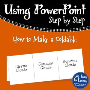 How to Make a Foldable on the computer right in Powerpoint, great trick for teachers!
