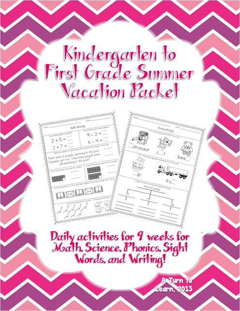 Summer Daily Worksheets For Kindergarten Students Entering First
