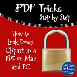 How to Lock Down Clipart in a PDF