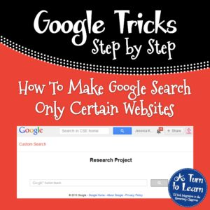 How to Make Google Search Only Certain Websites