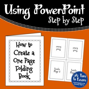 How to Create a One Page Folding Book... Make a quick foldable for your students with this easy to follow tutorial!