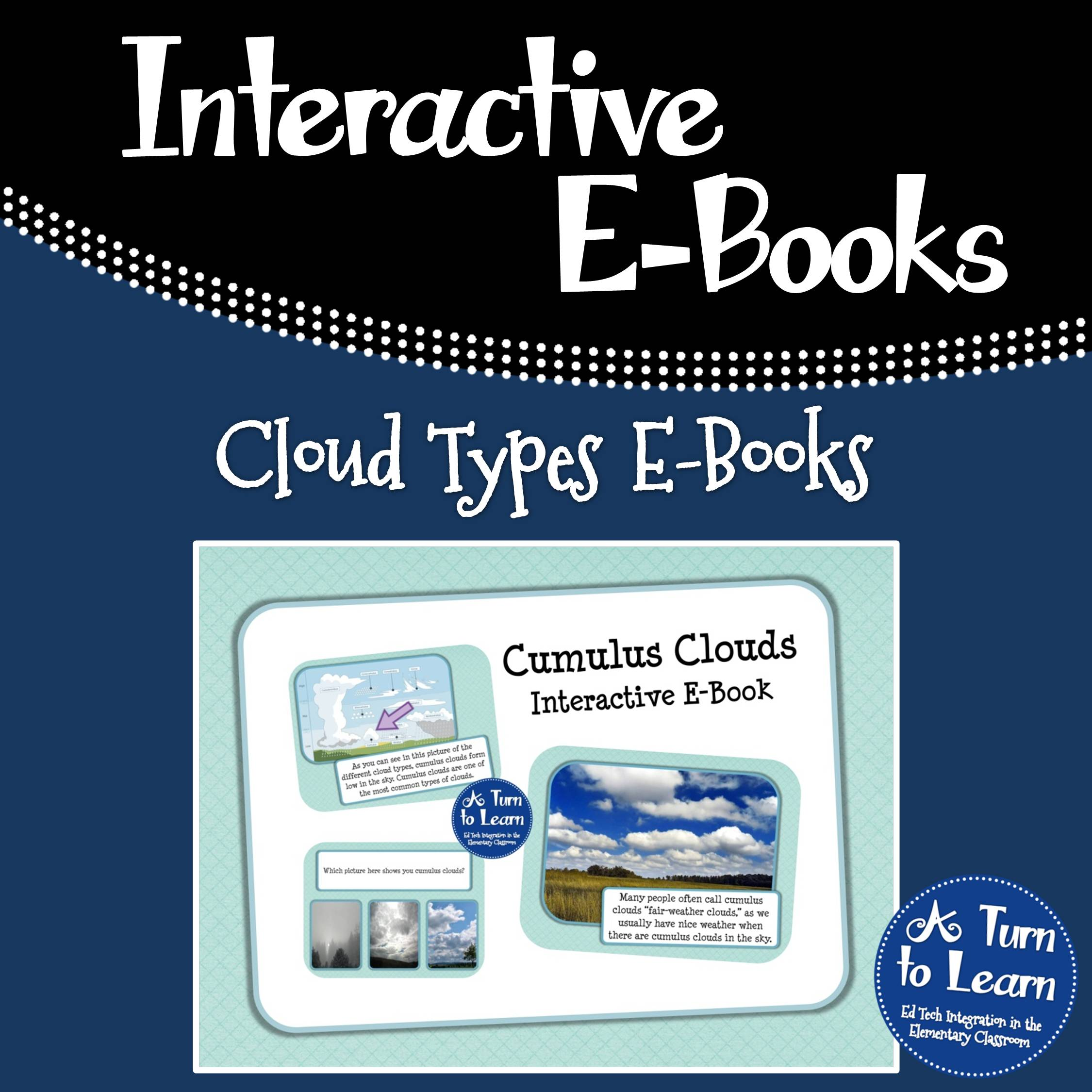 Cloud Types Interactive E-Books