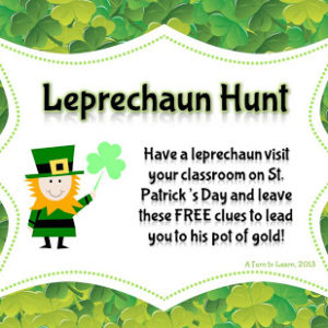 Last Minute St. Patrick's Day Activities! (Freebie and a No Prep Game!)