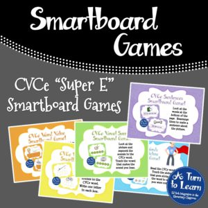 CVCe Words Smartboard Games