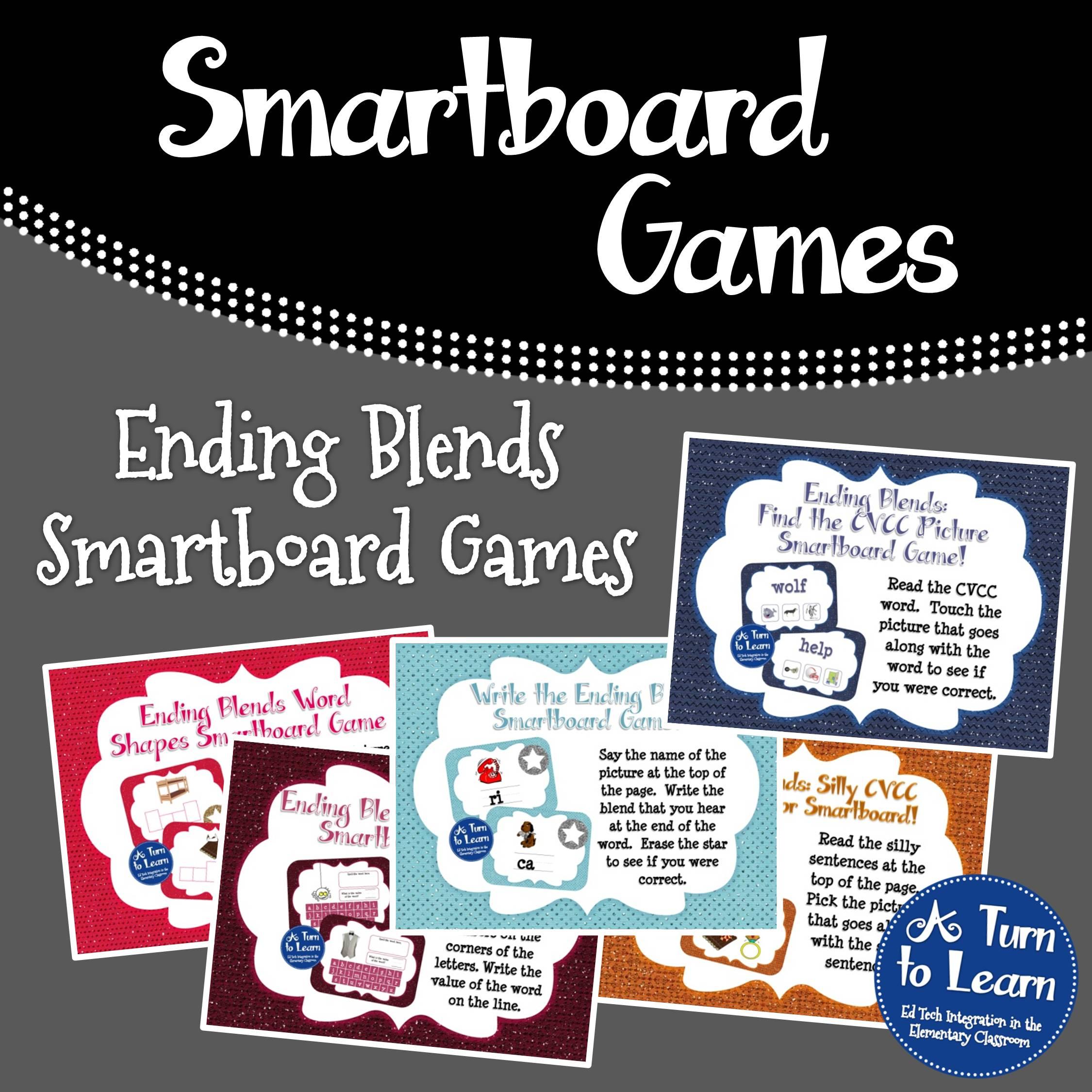 Ending Blends Smartboard Games