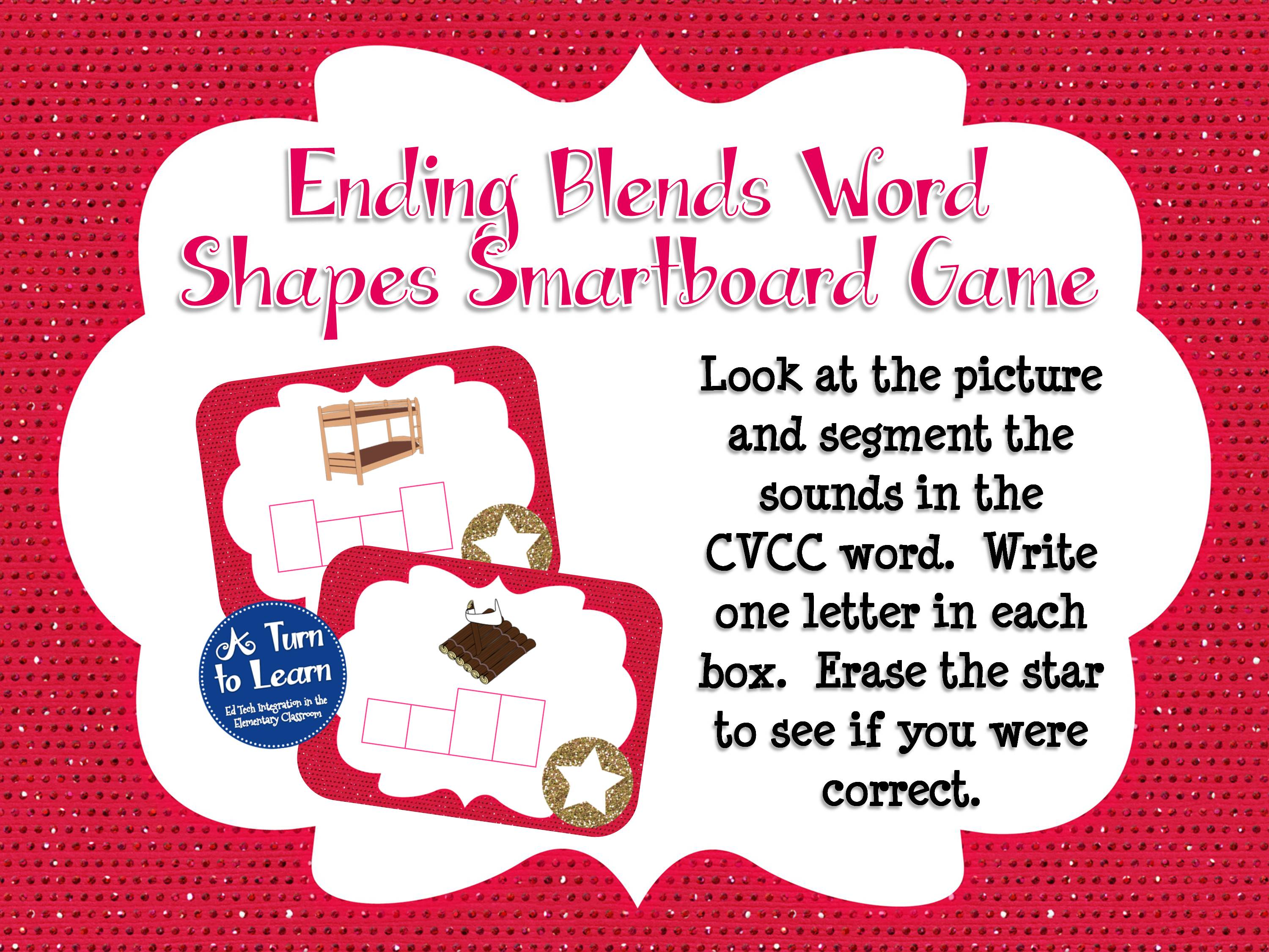Ending Blends Smartboard Games and Movie • A Turn to Learn