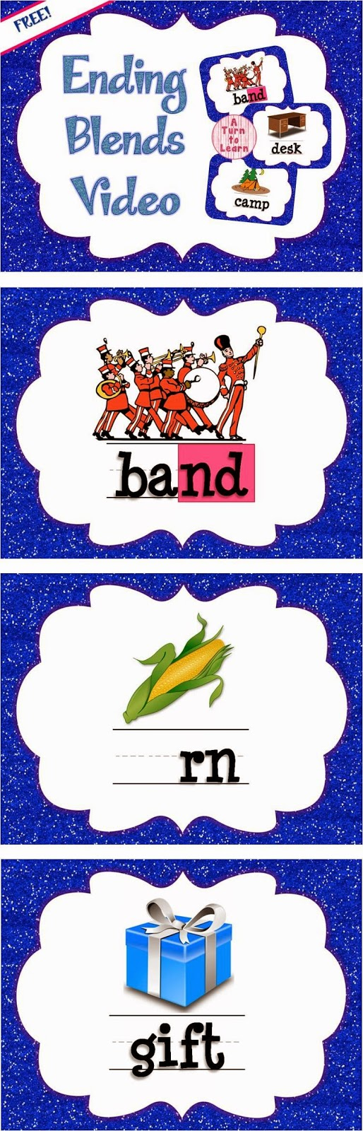 FREE Ending Blends Video: Perfect for introducing or reviewing the concept with your class!