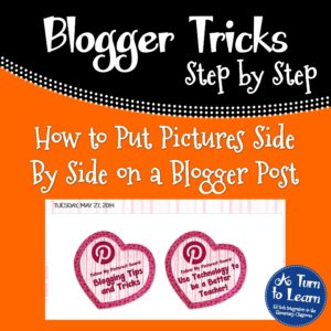 How to Put Pictures Side By Side in Blogger