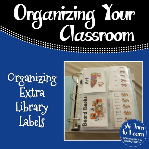 Teacher Organization Trick... Keeping your extra library labels organized!